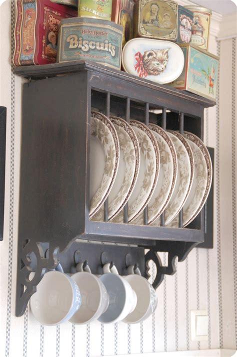 toves sammensurium plates  wall vintage kitchen plate racks