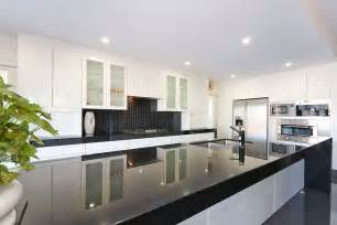 Kitchens With Black Bench Tops project stone australia galleries gt kitchen queensland
