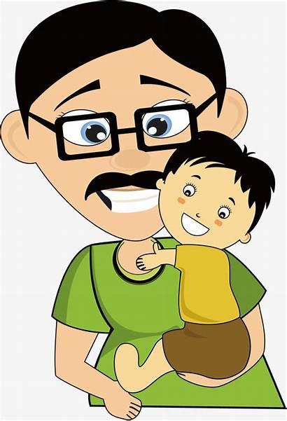 Father Clipart Cartoon Son Dia Padre Del
