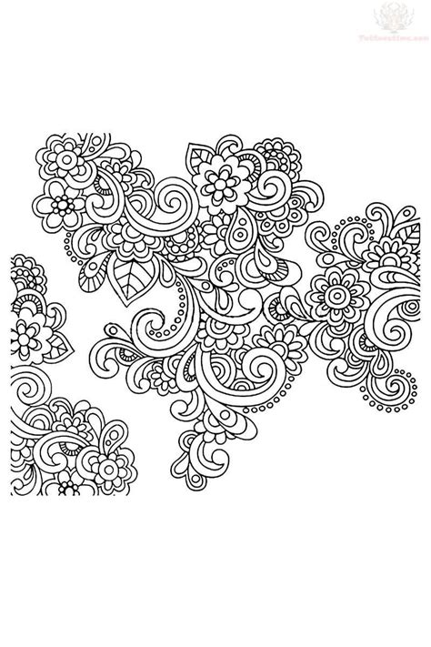 easy paisley coloring pages getcoloringpagescom