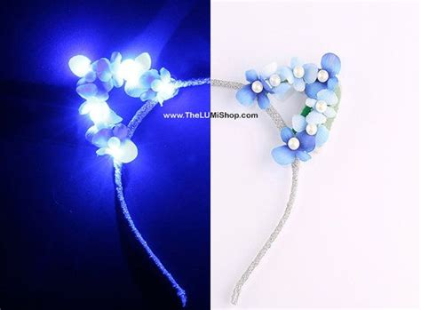 ariana grande light up cat ears blue led light up flower cat ears with pearlkitty by