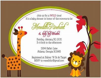 Shower Safari Invitation Jungle Invitations Party Birthday
