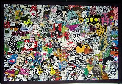 Graffiti Stickers Sticker Collage Wall Artists Cut