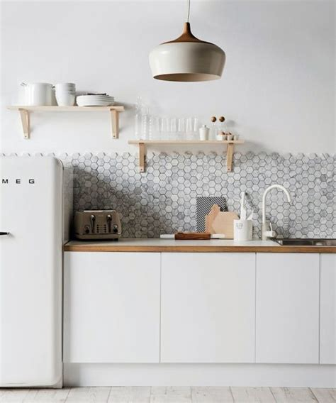 Ikea Bathroom Cabinets Australia by 36 Eye Catchy Hexagon Tile Ideas For Kitchens Digsdigs