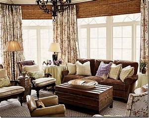 love the bamboo shades layered with toile curtains in With bamboo curtains in living rooms