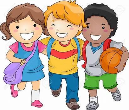 Clipart Children Kid Students Friends Three Clipartion