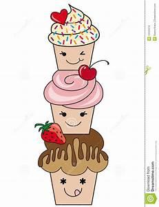 Cupcake Hawaii Cute Cartoon - Party Themes Inspiration