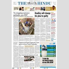 Newspaper The Hindu (india) Newspapers In India Thursday's Edition, March 18 Of 2010 Kioskonet