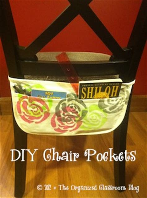 make your own no sew chair pockets the organized