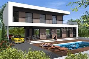 Maison Architecte Plan : plan de maison contemporaine scabiosa ~ Dode.kayakingforconservation.com Idées de Décoration