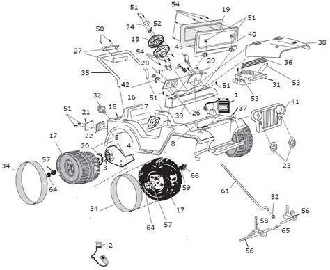 Power Wheels Barbie Jeep Lil Wrangler Parts