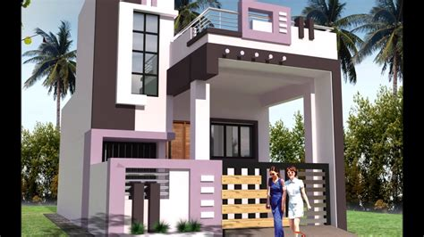 Front Design Of A Small House Elevations Youtube