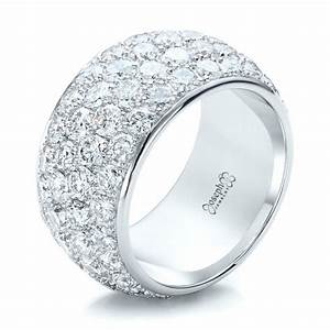 Custom pave diamond wedding ring 100875 for Pave wedding rings
