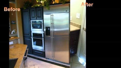 the best quot before after quot custom cabinet refacing of