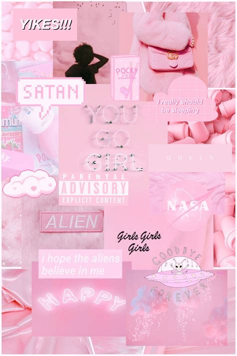 aesthetic background laptop pink