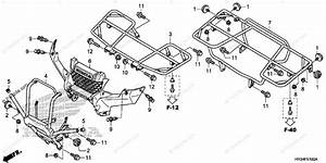 Honda Atv 2014 Oem Parts Diagram For Carrier