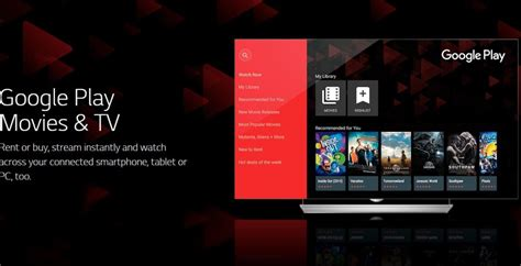 Lg Smart Tvs Get Google Play Movies & Tv Support In 100