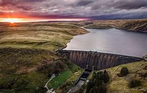 Sunset Over Claerwen Dam
