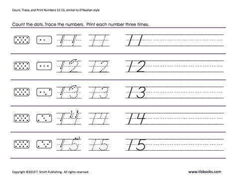 number tracing worksheets 11 20 worksheets for all