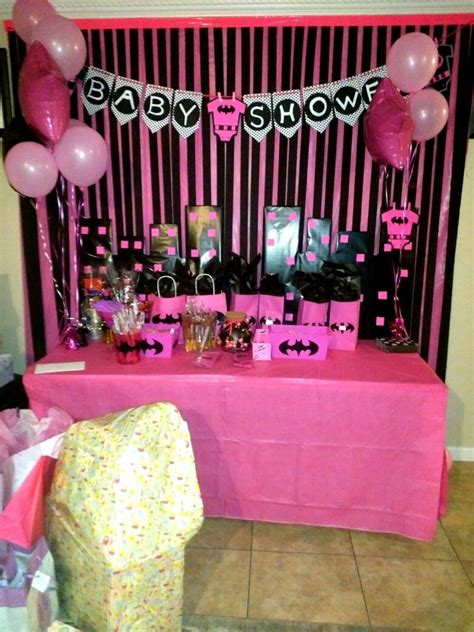 Baby Shower Theme For by Batman Pink Baby Shower Theme For A Baby Shower Batgirl