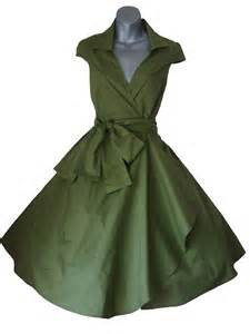 robe mariã e rockabilly olive green swing pinup rockabilly dress look for the