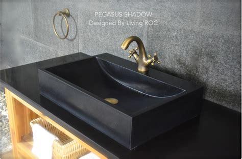 black granite bathroom sink faucet hole pegasus shadow