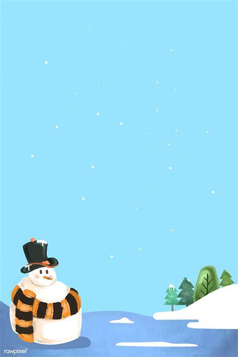 premium illustration  cute snowman pattern