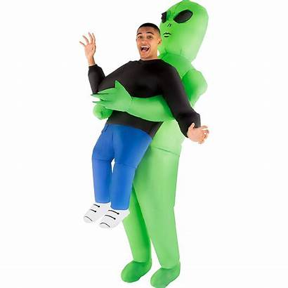 Alien Costume Inflatable Pick Adult Party Icon