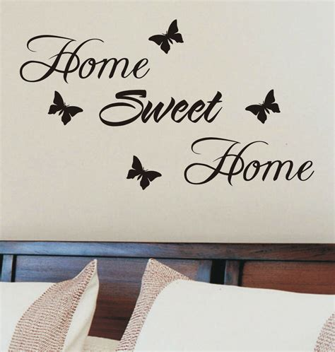 Home Sweet Home Wall Sticker Quote Vinyl Wall Art Home