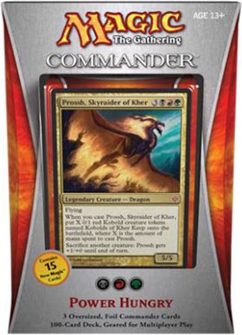 magic the gathering prossh commander deck mtg commander 2013 power hungry edh deck on sale at toywiz