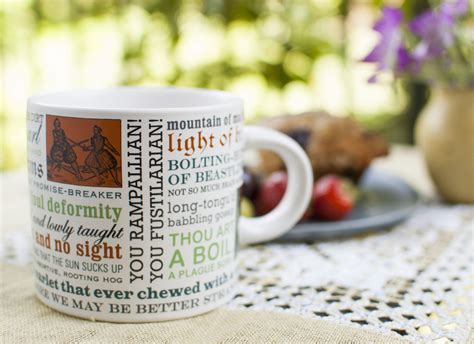 insults mug shakespeare shakespearean writers gifts philosophers unemployed guild coffee mugs