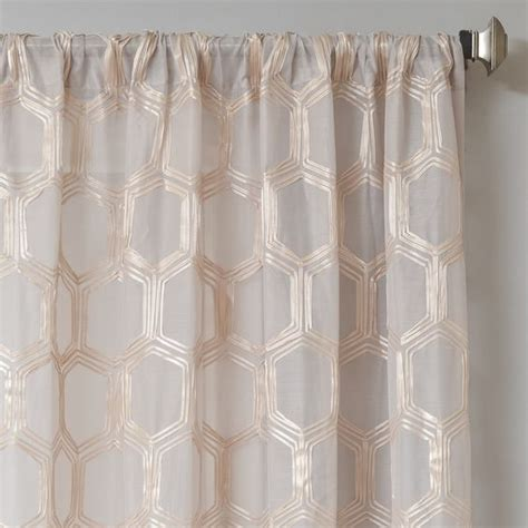 geometric pattern sheer curtains brach geometric applique sheer curtain panel great deals