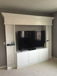 entertainment centers ikea Here's another DIY Ikea hack project. This ones a custom entertainment center made from 2 skinny ...