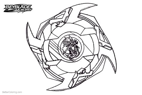 Beyblade Burst Coloring Pages Powerful Beyblade