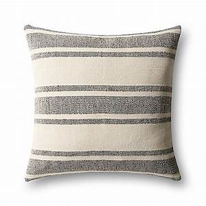 magnolia home by joanna gaines carter square throw pillow With black and ivory throw pillows