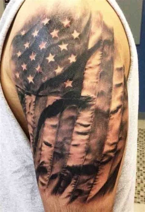 Sleeve Meaning by American Flag Sleeve Tattoo Designs Ideas And Meaning