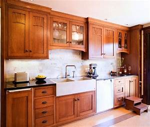 25 stylish craftsman kitchen design ideas gamble house With kitchen cabinets lowes with mission style wall art