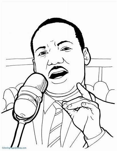 Luther Martin King Jr Coloring Mlk Pages