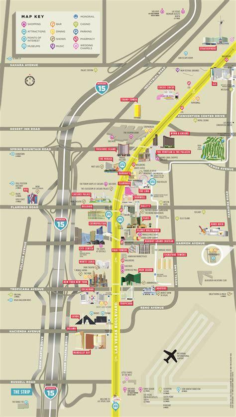 vegas map guide las vegas map guide   vegas strip