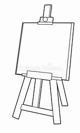 Coloring Easel Cartoon Illustration Children Shutterstock Outlined Goat Billy Dreamstime sketch template