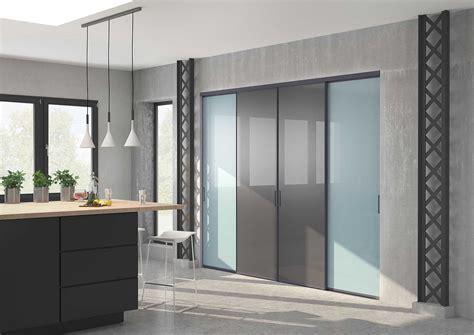 porte cuisine porte coulissante en verre pour cuisine maison design