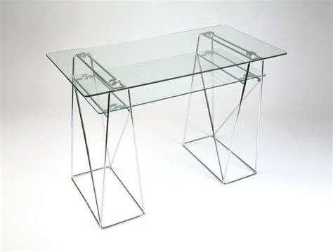 bureau ordinateur en verre bureaux classiques droits inside 75 achat vente de
