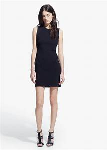 Mango Fitted Dress in Black   Lyst