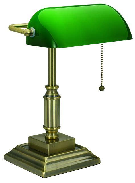 green desk l shade v light traditional style cfl banker 39 s desk l with