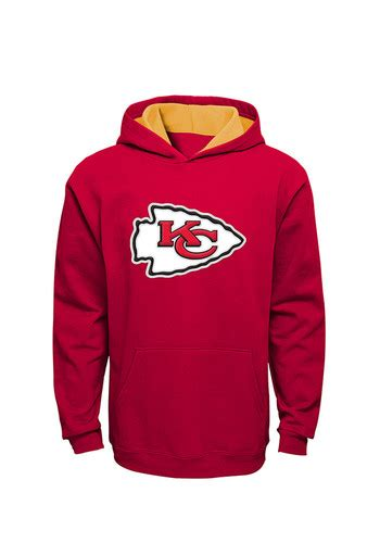 kansas city chiefs kids red youth prime long sleeve hoodie