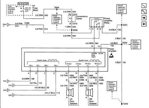 Wiring Diagram For 2002 Cadillac by 2002 Cadillac Escalade Bose Stereo Wiring Diagram Sle