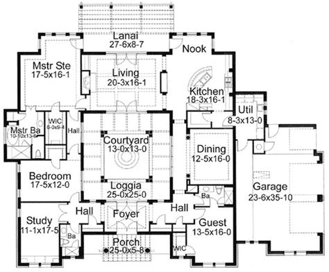 courtyard home plans 25 best ideas about courtyard house plans on