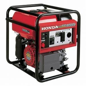 Honda 3000 Watt Super Quiet Gasoline Powered Wheeled