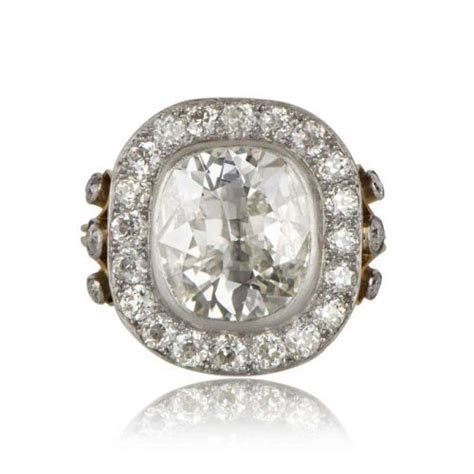 4 04ct cushion cut engagement ring estate jewelry