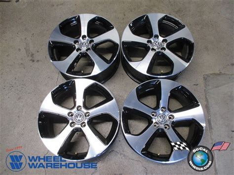 Four 2017 Volkswagen Vw Golf Gti Factory 18 Wheels Rims